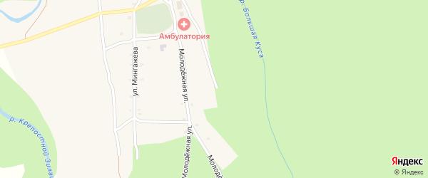 Молодежная улица на карте села Ишберды с номерами домов