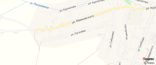 Улица Пугачева на карте Сима с номерами домов