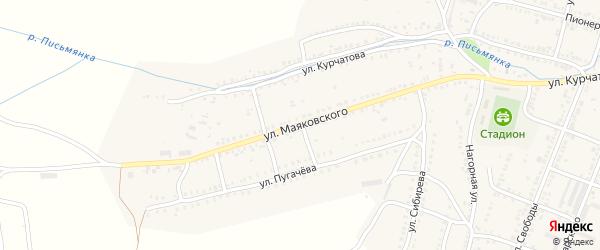 Улица Маяковского на карте Сима с номерами домов