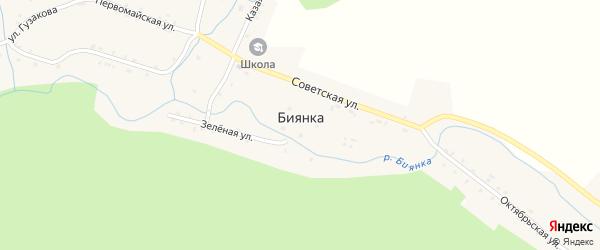 Красноармейская улица на карте села Биянки с номерами домов