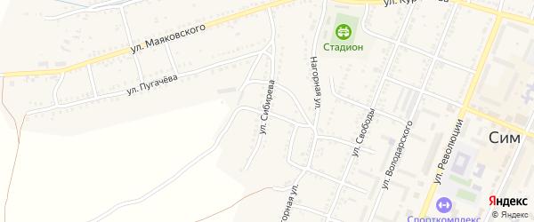 Улица Сибирева на карте Сима с номерами домов