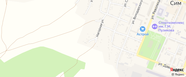 Улица Кутузова на карте Сима с номерами домов