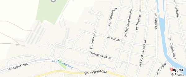 Улица Горького на карте Сима с номерами домов