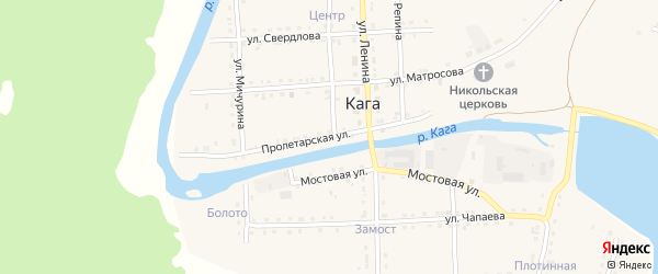Пролетарская улица на карте села Каги с номерами домов
