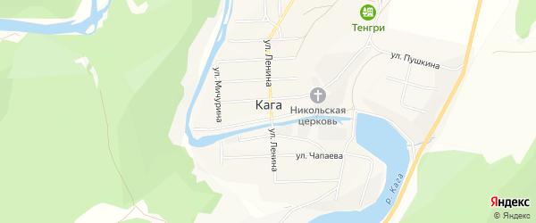 Карта села Каги в Башкортостане с улицами и номерами домов