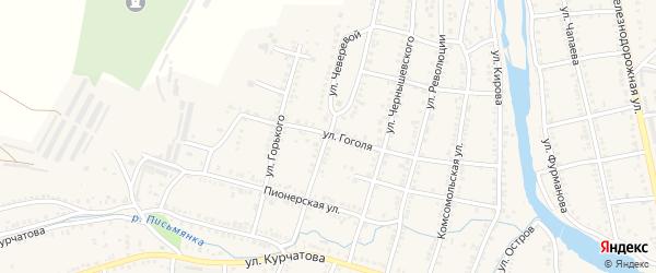 Улица Чеверевой на карте Сима с номерами домов