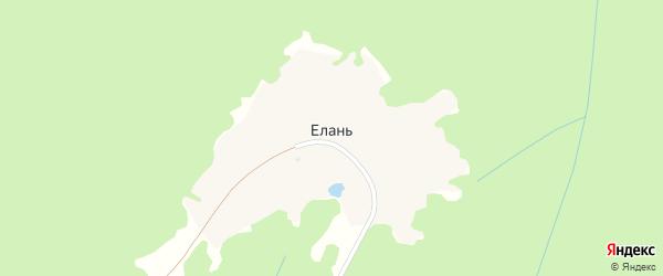 Березовая улица на карте деревни Елани с номерами домов