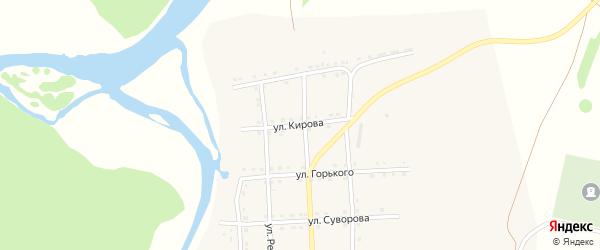 Улица Кирова на карте села Каги с номерами домов