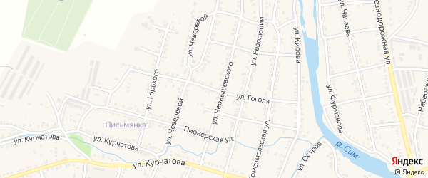 Улица Гоголя на карте Сима с номерами домов
