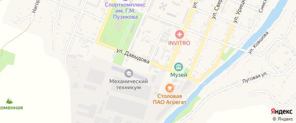 Улица Давыдова на карте Сима с номерами домов