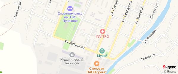 Улица Гузакова на карте Сима с номерами домов