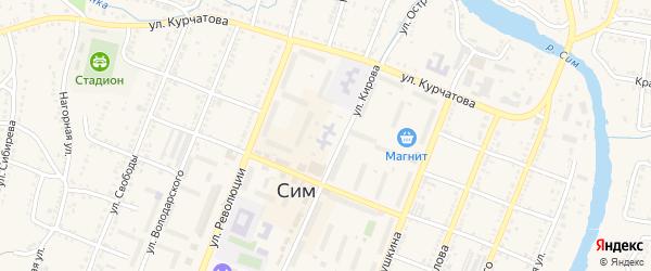 Сад СНТ 1 на карте Сима с номерами домов