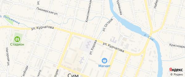Улица Кирова на карте Сима с номерами домов