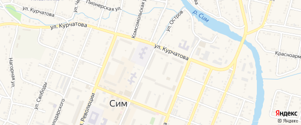 Улица Куйбышева на карте Сима с номерами домов