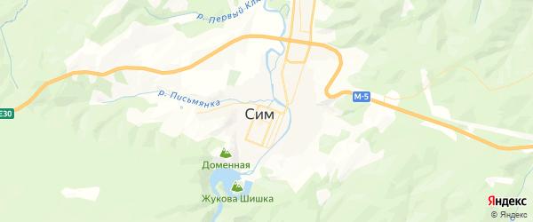 Карта Сима с районами, улицами и номерами домов