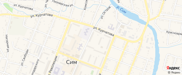 ГК Пионерская территория на карте Сима с номерами домов