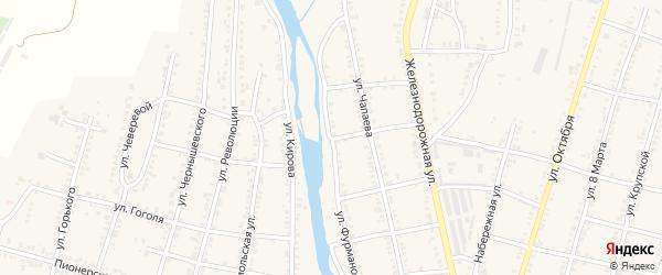 Улица Фурманова на карте Челябинска с номерами домов