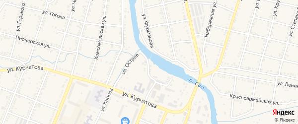 Улица Остров на карте Сима с номерами домов