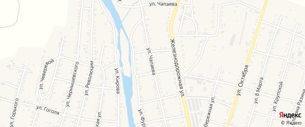 Улица Чапаева на карте Сима с номерами домов