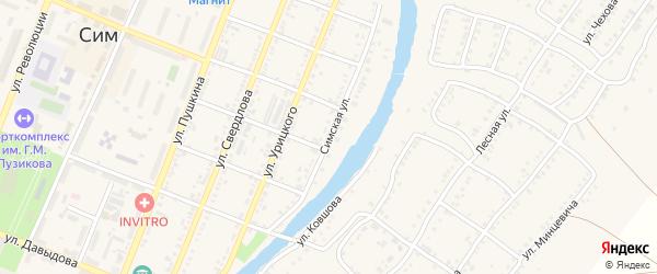 Симская улица на карте Сима с номерами домов