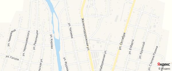 Железнодорожная улица на карте Сима с номерами домов