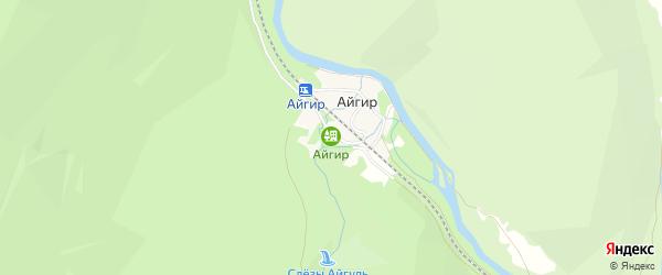 Карта деревни Айгира в Башкортостане с улицами и номерами домов