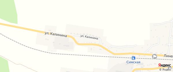 Улица Калинина на карте Сима с номерами домов