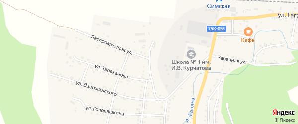 Улица Братьев Буяновых на карте Сима с номерами домов