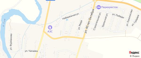 Молодежная улица на карте Сима с номерами домов