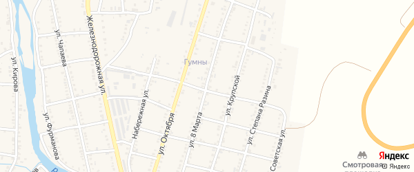 Улица 8 Марта на карте Сима с номерами домов