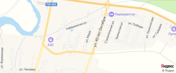 Улица Мира на карте Сима с номерами домов