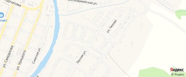 Лесная улица на карте Сима с номерами домов