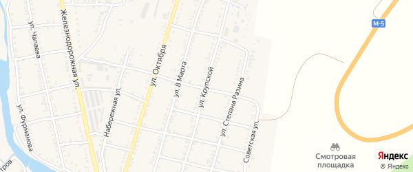 Улица Крупской на карте Сима с номерами домов