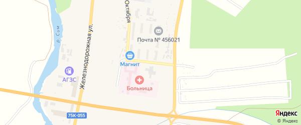 Улица 40 лет Октября на карте Сима с номерами домов