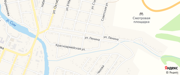 Улица Ленина на карте Сима с номерами домов