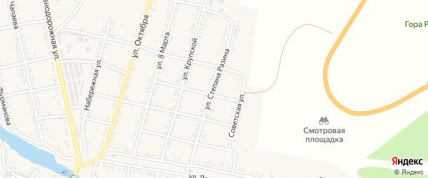Улица Степана Разина на карте Сима с номерами домов