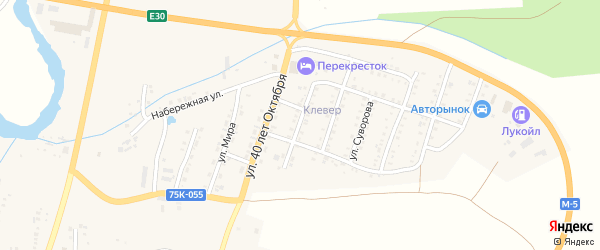 Строительная улица на карте Сима с номерами домов