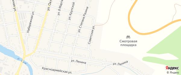 Советская улица на карте Сима с номерами домов