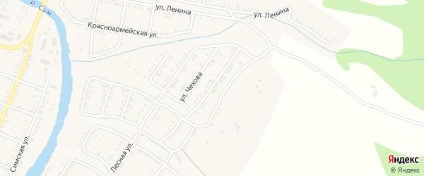 Улица Чехова на карте Сима с номерами домов