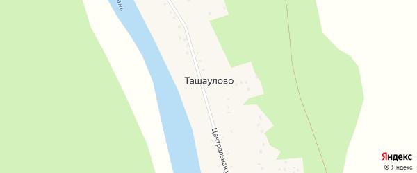Озерная улица на карте деревни Ташаулово с номерами домов