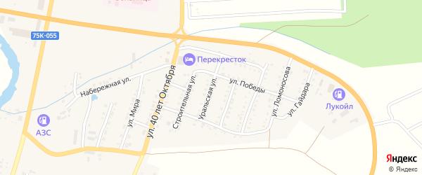 Уральская улица на карте Сима с номерами домов
