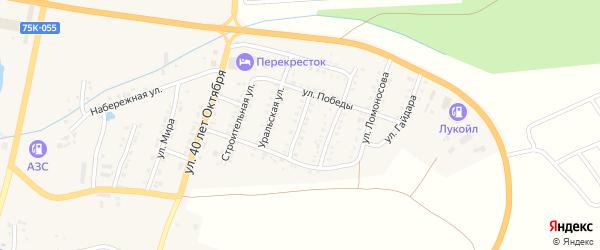 Улица Суворова на карте Сима с номерами домов