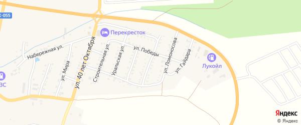 Улица Островского на карте Сима с номерами домов