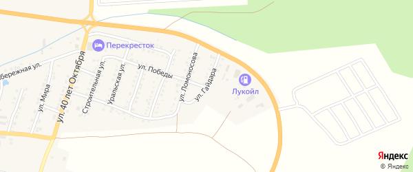 Улица Гайдара на карте Сима с номерами домов