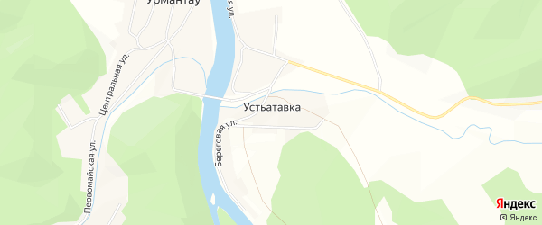 Карта деревни Устьатавки в Башкортостане с улицами и номерами домов