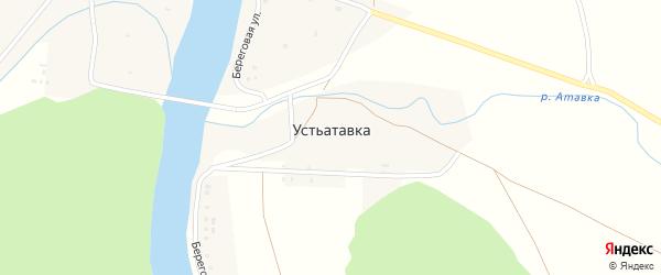 Молодежная улица на карте деревни Устьатавки с номерами домов