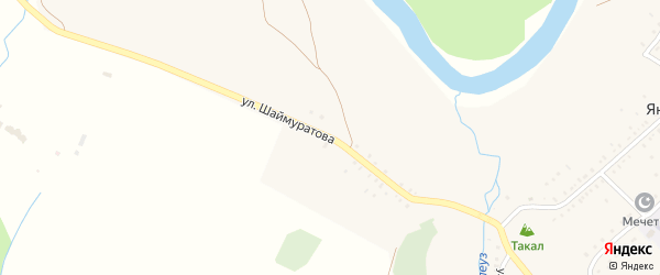 Улица Шаймуратова на карте деревни Янтышево с номерами домов