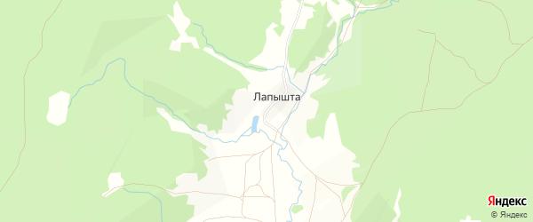 Карта села Лапышта в Башкортостане с улицами и номерами домов