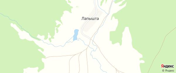 Заречная улица на карте села Лапышта с номерами домов