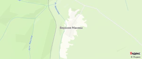 СНТ Энтузиаст на карте деревни Верхней Манявы с номерами домов